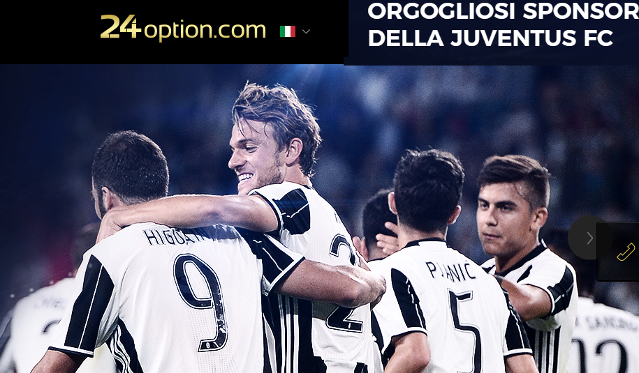 24option sponsor ufficiale Juventus