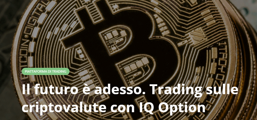 trading criptovalute bitcoin IQ Option