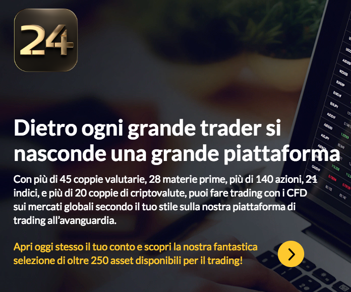 Cambio sterlina euro su 24Option