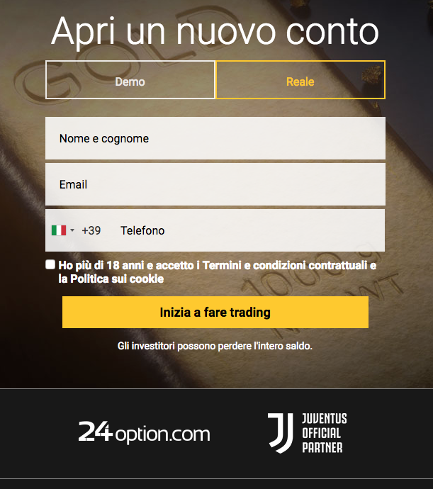 24 Option broker azioni