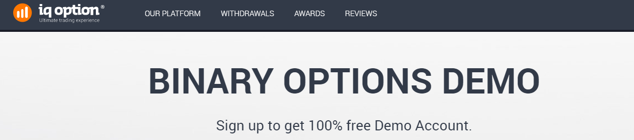 iq option conto demo