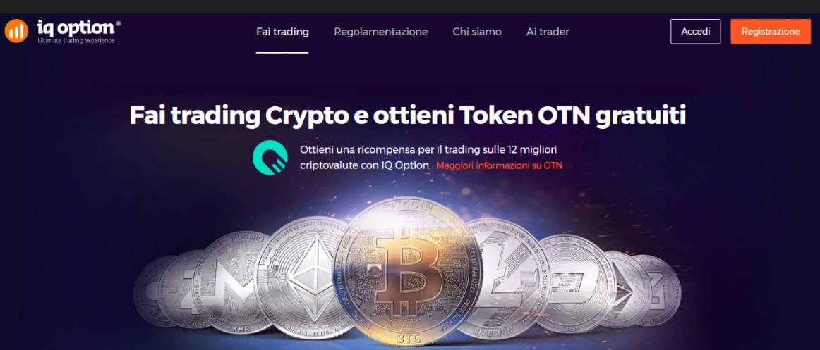 OTN coin: criptovaluta IQ Option