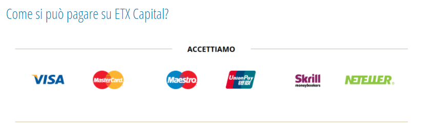 Come prelevare e depositare su EXT Capital
