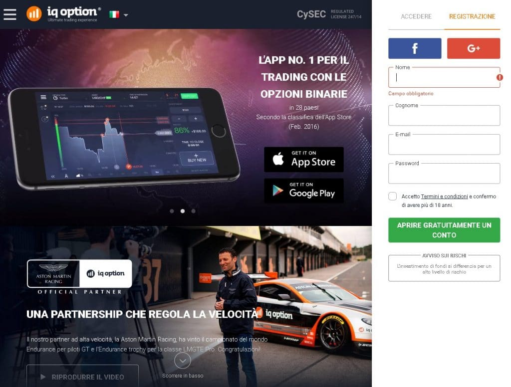 download iqoption piattaforma 4.0 passo 1