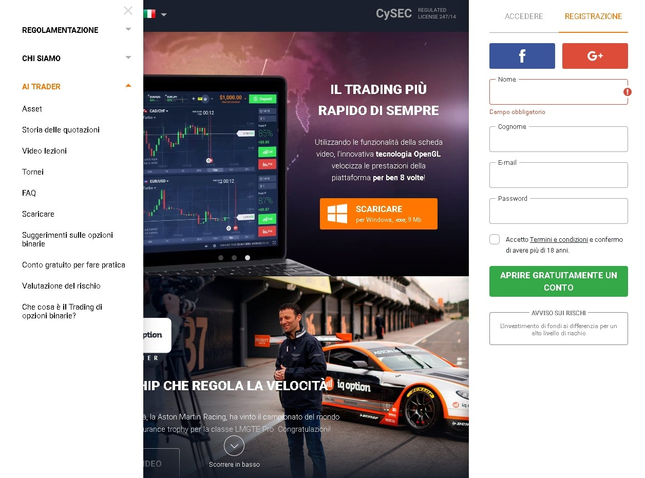 download iqoption piattaforma 4.0 passo 3