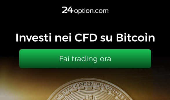 24Option: investi con i CFD su Bitcoin