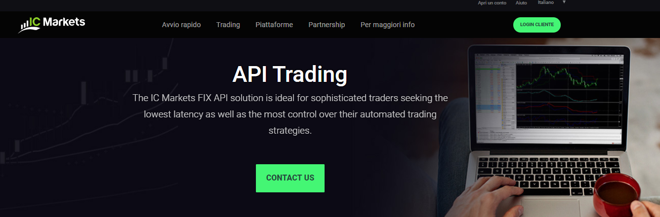 IC Markets API trading