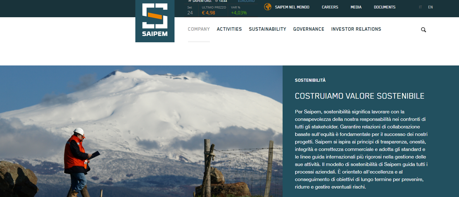 Saipem shares: how to invest? Real-time quote and chart
