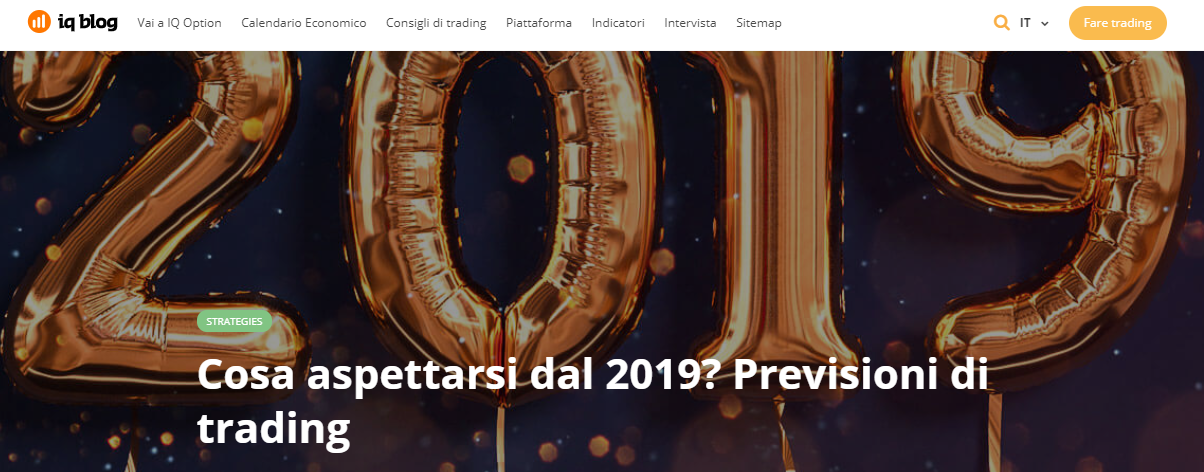 IQ Option previsioni di trading 2019